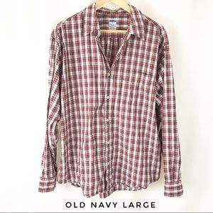 Old Navy Men's Large plaid button down shirt